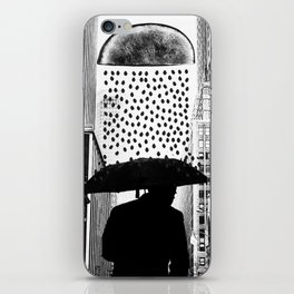 The rainy day - black and white version iPhone Skin