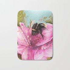 Bee on flower 17 Bath Mat