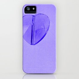 Abstract Purple Hearts iPhone Case