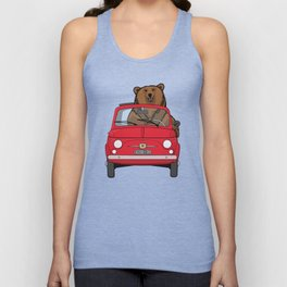 Bear in a red 500 Unisex Tank Top