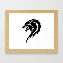 Tribal Wolf Framed Art Print