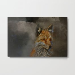 Abstract fox portrait Metal Print