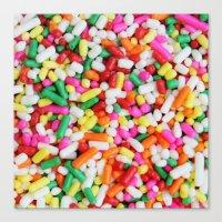 sprinkles Canvas Prints featuring Sprinkles by Beastie Toyz