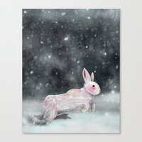 rabbit Canvas Prints featuring White Rabbit by Ben Geiger
