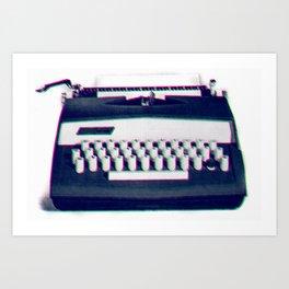 typing Art Print
