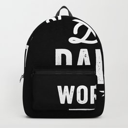 Mens World's Best Daddy Father Gift Backpack