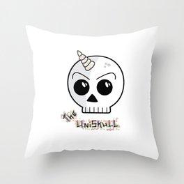 The Uniskull Throw Pillow