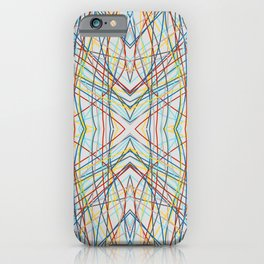 Funayurei - Abstract Colorful Symmetric Line Art iPhone Case