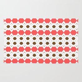 Chocolate Brown + Coral: Pattern No.5 Rug