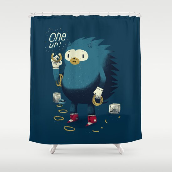 1 up! Shower Curtain