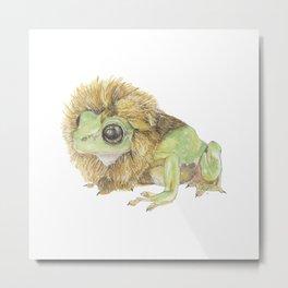 Lion Frog Metal Print