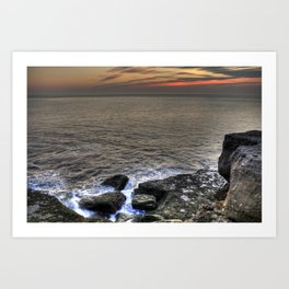 Froth and Rock Art Print