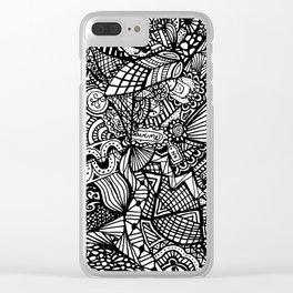 Doodle 5 Clear iPhone Case