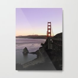 Sunset over Golden Gate Bridge Metal Print