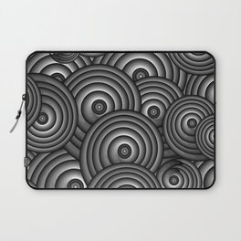 Charcoal Swirls Laptop Sleeve
