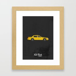 """This is New York for me. """"Cab"""" Framed Art Print"""
