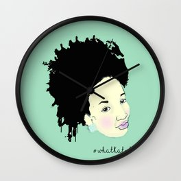 Ink Splatter Afro Girl Wall Clock