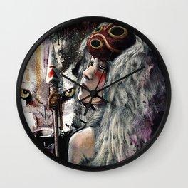 Mononoke San and The Spirit of the Wolf Wall Clock