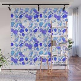 Beautiful Australian Native Floral Print with Kangaroos Wall Mural