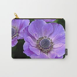 Remembrance Purple Poppy Flower Carry-All Pouch