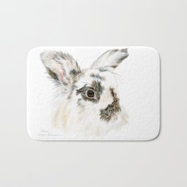 Pixie the Lionhead Rabbit by Teresa Thompson Bath Mat