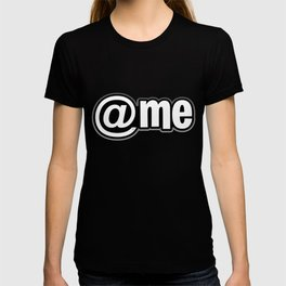 At Me Pattern (white on black version) T-shirt
