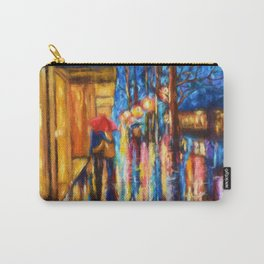 Love In The Rain Carry-All Pouch