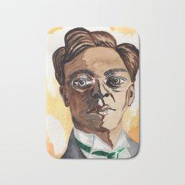 Man with glasses Bath Mat