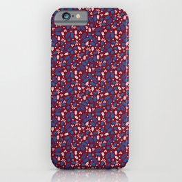 Ditsy Grains Floral in Red Brick iPhone Case