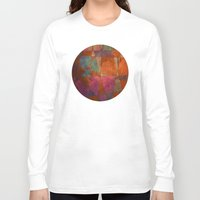 baroque Long Sleeve T-shirts featuring Baroque Cubism by Tony Vazquez