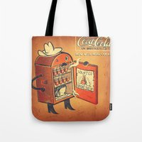 cocaine Tote Bags featuring Cocaine Cola by TheNazzaro
