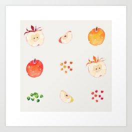 Cloud Land apples  Art Print