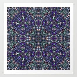 Kaleidoscope ice shards Art Print