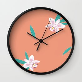 Orchids for Kinahen Wall Clock