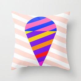 California Ice Cream Throw Pillow