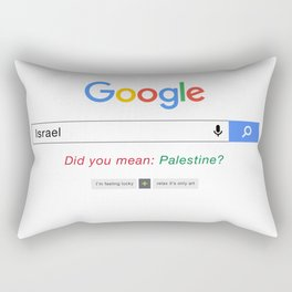 Did you mean Palestine? Rectangular Pillow