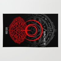 archer Area & Throw Rugs featuring Fate/Zero Archer by Dark Angel_Huang