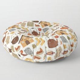 Autumn Cottage Days Floor Pillow