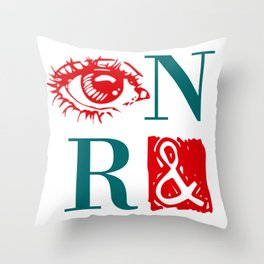 Randian Rebus Throw Pillow