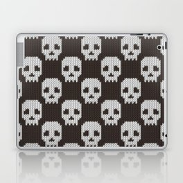 Knitted skull pattern Laptop & iPad Skin
