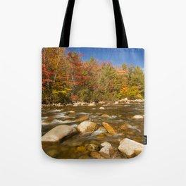 I - River through fall foliage, Swift River, New Hampshire, USA Tote Bag