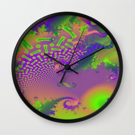 Interconnected Metallic Fractal Wall Clock