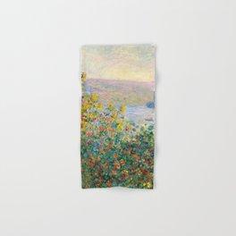 Flower Beds at Vétheuil by Claude Monet 1881 Hand & Bath Towel