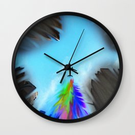 Fly over your comfort zone Wall Clock