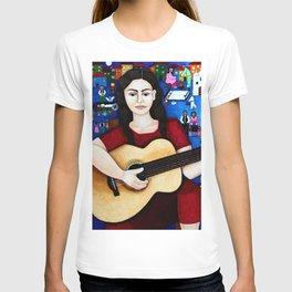 Violeta Parra and her guitar T-shirt