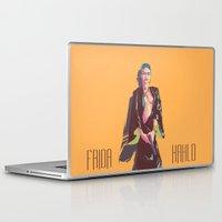 frida kahlo Laptop & iPad Skins featuring Frida Kahlo by antoniopiedade
