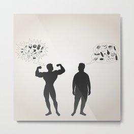 sportsman and fat man Metal Print