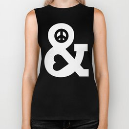 Peace and Love (pink edition) Biker Tank