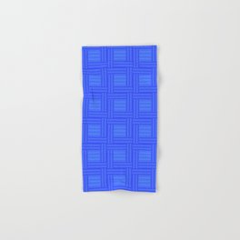 Elour Blue Tile Hand & Bath Towel
