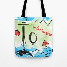 City scape - Seattle, Washington Tote Bag